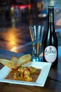 Aspall and shrimp